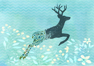 Painting - Spring Stag by Amanda Lakey
