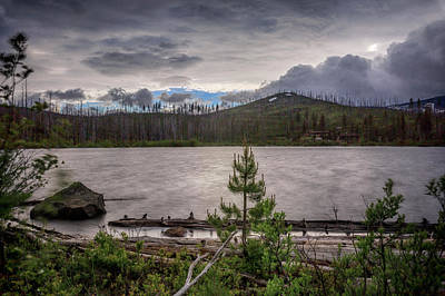 Art Print featuring the photograph Spring Storm At Round Lake by Cat Connor