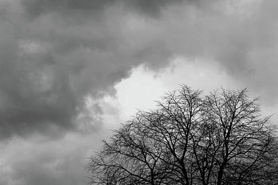 Photograph - Spring Storm Coming Bw 050518 by Mary Bedy