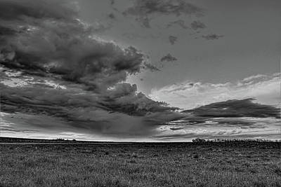 Photograph - Spring Storm Front In Black And White by Dale Kauzlaric