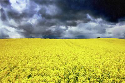 Australian Mixed Media - Spring Storm In Australia by Georgiana Romanovna