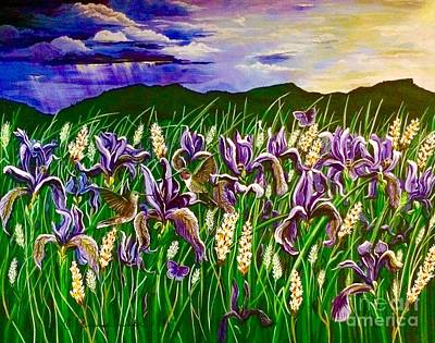 Painting - Spring Storm  Iris Fields by Jennifer Lake
