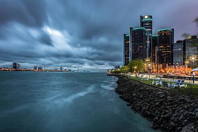 Storm Season In Detroit  Art Print