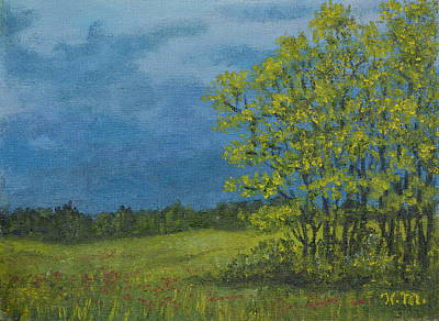 Painting - Spring Storm - Spring Leaves by Kathleen McDermott