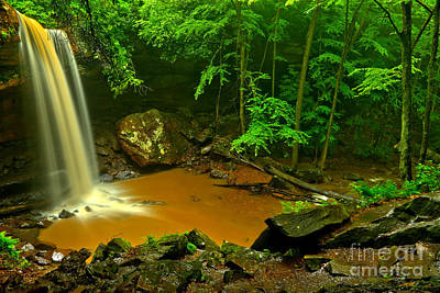 Photograph - Spring Storms At Cucumber Falls by Adam Jewell