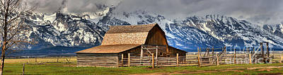 Spring Storms At The Moulton Barn Art Print by Adam Jewell