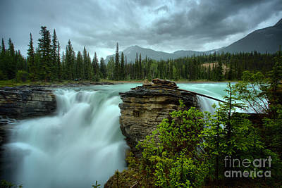 Photograph - Spring Storms Over Athabasca Falls by Adam Jewell