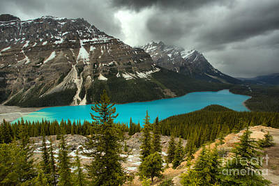 Photograph - Spring Storms Over Peyto Lake by Adam Jewell