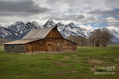 Spring Storms Over The Moulton Barn Art Print by Adam Jewell