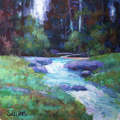 Painting - Spring Stream by Nora Sallows