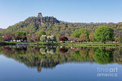Spring Sugarloaf With Reflections Art Print
