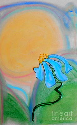 Mixed Media - Spring Sun by L Cecka