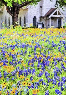 Digital Art - Spring Sunday Service by JC Findley