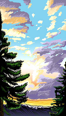 Wall Art - Painting - Spring Sunrise 01 by Pam Little
