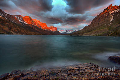 Photograph - Spring Sunrise Storms Over Wild Goose Island by Adam Jewell