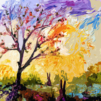 Painting - Spring Sunrise Welcome To My World by Ginette Callaway
