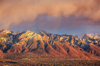 Photograph - Spring Sunset Above Salt Lake City. by Johnny Adolphson