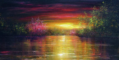 Painting - Spring Sunset by Ann Marie Bone
