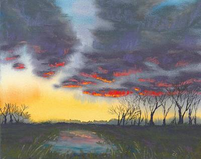Spring Sunset Art Print by Christine Camp