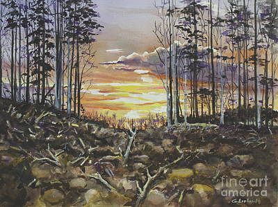 Painting - Spring Sunset by Gertrudes  Asplund
