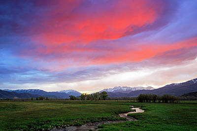 Photograph - Spring Sunset In Heber Valley, Utah. by Johnny Adolphson