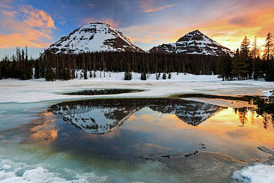 Photograph - Spring Sunset In The Uinta's. by Johnny Adolphson