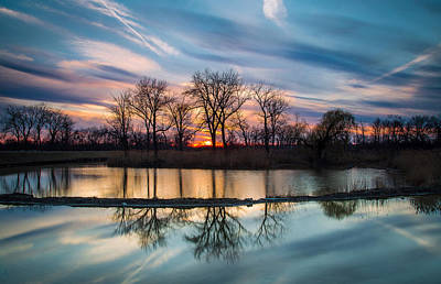 Water Filter Photograph - Spring Sunset by Jackie Novak
