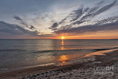 Photograph - Spring Sunset On Lake Michigan by Sue Smith