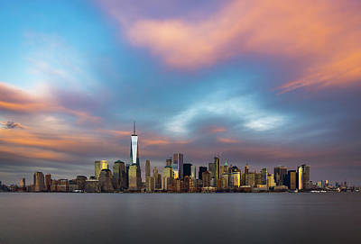 Photograph - Spring Sunset Over The Manhattan Skyline by Mark Robert Rogers