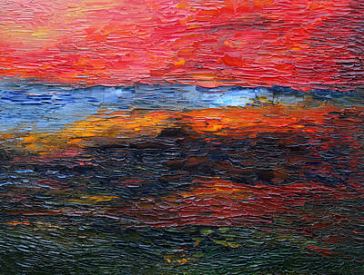 Painting - Spring Sunset by Vadim Levin