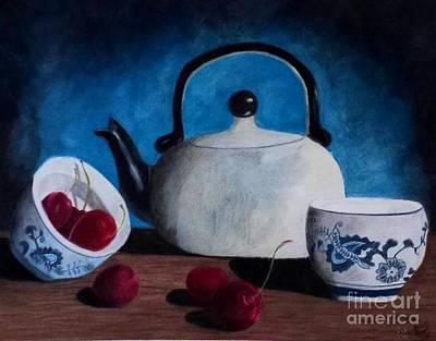 Spring Tea Art Print by Courtney Herz