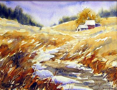 Watercolor Painting - Spring Thaw by Chito Gonzaga