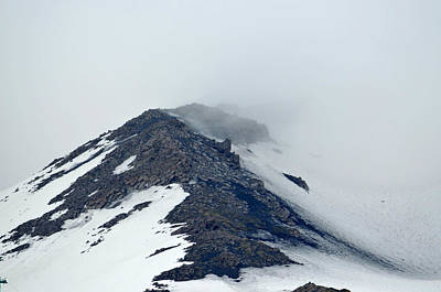 Photograph - Spring Thaw Mt. Etna by Richard Ortolano