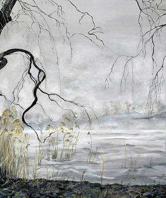 Painting - Spring Thaw On Misty Grenadier Pond by Nadine Dennis