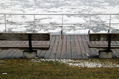 Photograph - Spring Thaw On The Boardwalk 10 by Mary Bedy