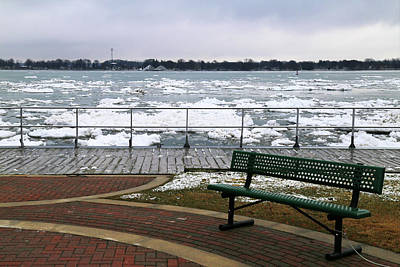 Photograph - Spring Thaw On The Boardwalk 5 by Mary Bedy