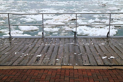 Photograph - Spring Thaw On The Boardwalk by Mary Bedy