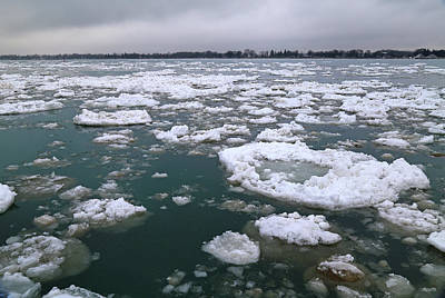 Photograph - Spring Thaw On The Saint Clair River 2 by Mary Bedy