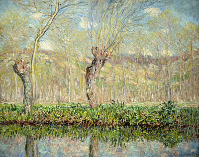 Spring  The Border Of The Epte Art Print by Claude Monet