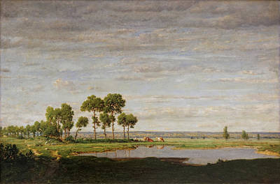 Pastoral Painting - Spring by Theodore Rousseau