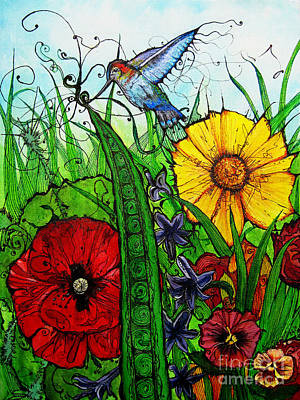 Green Beans Mixed Media - Spring Things by Carrie Jackson