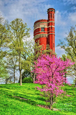 Spring Time At Cincinnati's Eden Park Art Print by Mel Steinhauer