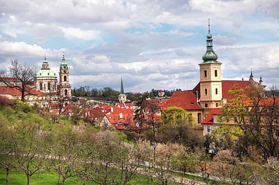 Photograph - Spring Time In Prague. Petrin Hill And Lesser Town by Jenny Rainbow