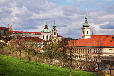 Photograph - Spring Time In Prague. View From Seminary Gardens by Jenny Rainbow