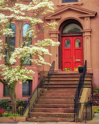 Photograph - Bushnell Park Brownstone by John Vose