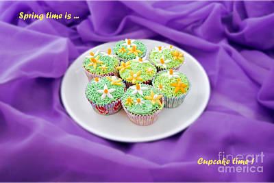 Photograph - Spring Time Is Cupcake Time by Terri Waters