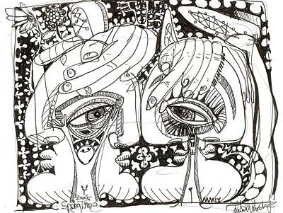 Cubism Drawing - Spring Time by Robert Wolverton Jr