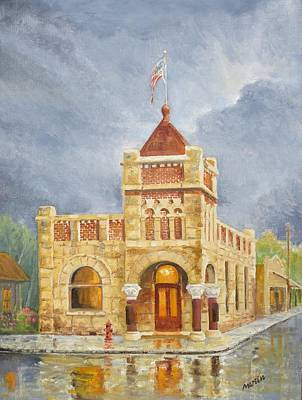 Mike Martin Painting - Spring Time Shower by Mike Martin