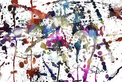 Digital Art - Spring Time Splat by Margie Chapman