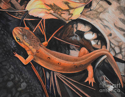 Newts Painting - Spring Time Strut by Ashley Gauffin Grant